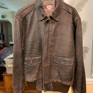 Pop's Leather Mens A-2 Leather Flight Jacket